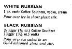 Oakland Tribune - White Black Russian